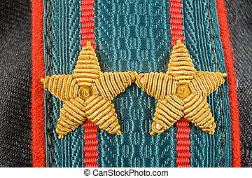 肩ベルト, の, ロシア人, 警察