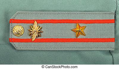 肩ベルト, の, ロシア人, 軍隊, 士官, -, 少佐