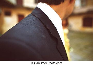 肩, 人, 黒いスーツ