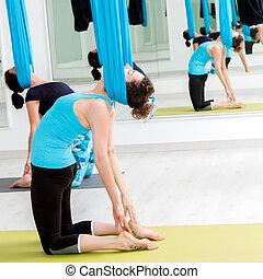肩, 脖子, exercise., 妇女