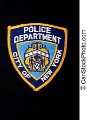 肩, 警察, パッチ, ヨーク, 部門, 新しい