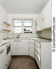 肮脏, 空, kitchen.