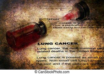 肺, 概念, グランジ, がん