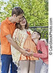 胃, 妊娠した, 父, 息子, 母, ヒアリング