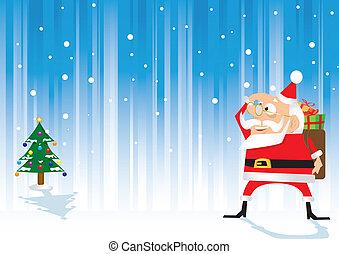 背中, 到来, claus, santa