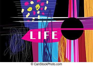 背景を彩色しなさい, 抽象的, レトロ, raster