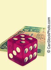 背景, お金, 概念, さいころ, ビジネス
