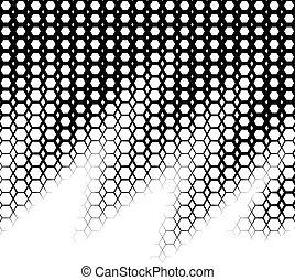 背景, ∥で∥, 勾配, の, 黒い、そして白い, hexes