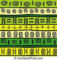 背景, ∥で∥, 緑, そして, 黄色, 種族, 装飾