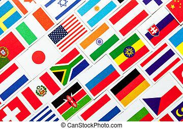 背景, の, 別, カラフルである, 国民, 旗, の, ∥, world., コラージュ