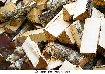 背景, の, 木製である, 切口, まき