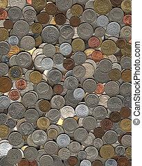背景, の, 雑多, コイン