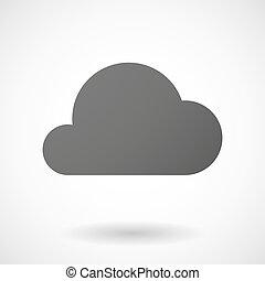 背景, アイコン, 雲, 白