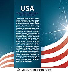 背景, アメリカ, テキスト, 抽象的, 旗, 星