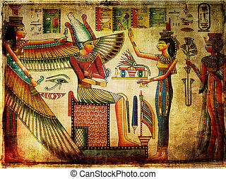 背景, エジプト人