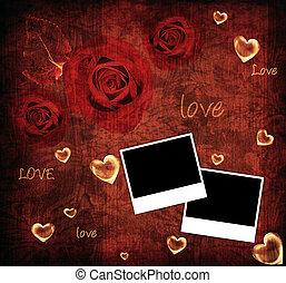 背景, カード, バレンタイン