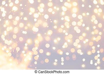 背景, クリスマス ライト, ホリデー