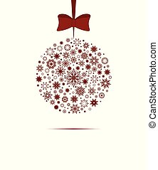 背景, クリスマス, 白, 装飾, ボール, 木