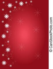 背景, クリスマス, 赤, 雪片