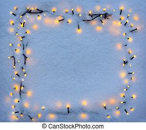 背景, クリスマス, 雪, ホリデー