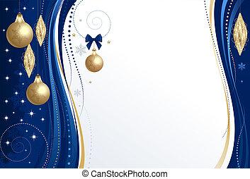 背景, クリスマス, 青
