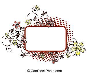 背景, グランジ, 花