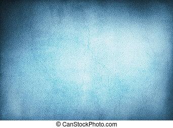 背景, グランジ, 青