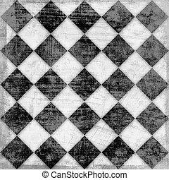 背景, グランジ, checkered