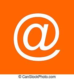 背景, シンボル, 電子メール
