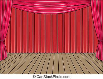 背景, ステージ