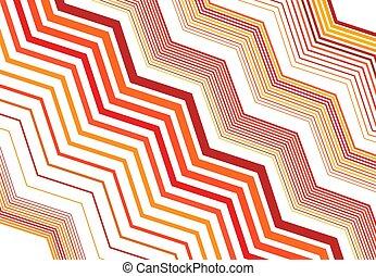 背景, ストライプ, 幾何学的, ストリップ, ジグザグ, パターンデザイン, 筋, オレンジ, ライン, 交差しなさい, element., カラフルである, 波形, のこぎり状である, 要素, 手ざわり, 振ること, 波状, 鋭い, 黄色