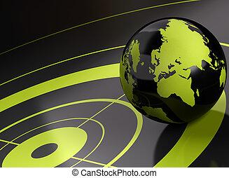 背景, ターゲット, -, 世界, geolocation