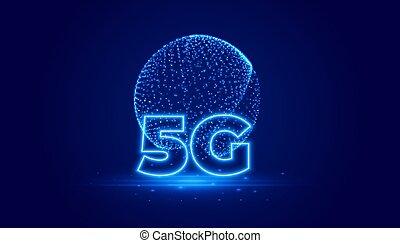 背景, デザイン, 技術, 5g, デジタル, 電気通信