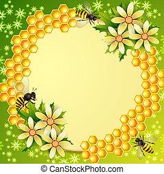 背景, ハチの巣
