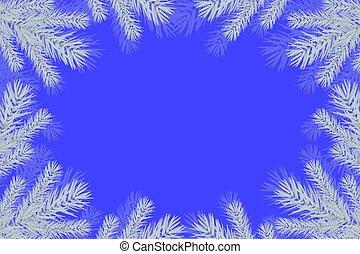 背景, ブランチ, クリスマスツリー