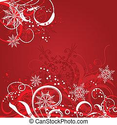 背景, ベクトル, クリスマス, テンプレート