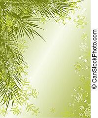 背景, ベクトル, クリスマス