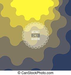 背景, ベクトル, 手ざわり, 青, ペーパー, 抽象的, カーブ, 黄色