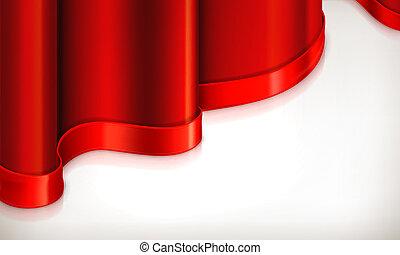 背景, ベクトル, 赤, 招待