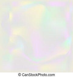 背景。, ホログラム, holographic, 虹色, 真珠, バックグラウンド。