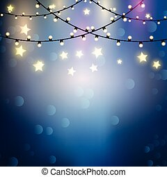 背景, ライト, クリスマス