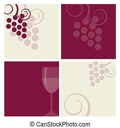 背景, ワイン