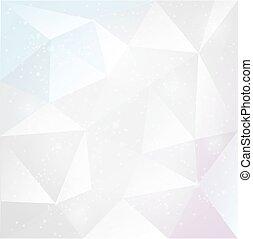 背景, 三角形, 抽象的, 白