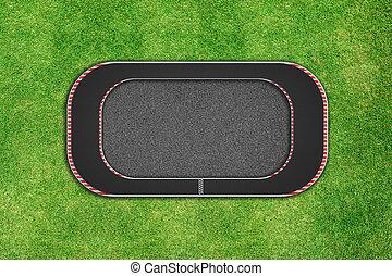 背景, 上, レース, 回路, 草, 光景