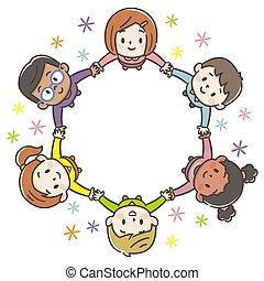 背景, 世界, 子供, 円, 白