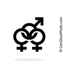 背景。, 两性, 图标, 白色
