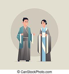 背景, 中国語, 国民, 日本語, フルである, 衣装, 女性, 微笑に立つこと, 古代, 白, 身に着けていること, 平ら, 女, 恋人, 特徴, 漫画, 人, 一緒に, 伝統的である, 長さ, マレ, アジア人, ∥あるいは∥, 衣服