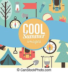 背景。, 假期, 夏季, 旅行