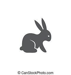 背景, 兔子, 白色, 图标