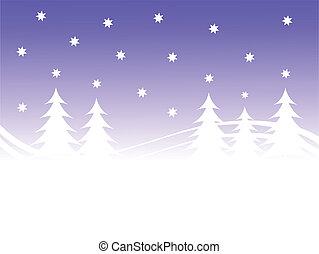 背景, 冬, クリスマス場面